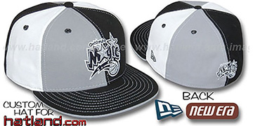 Magic PINWHEEL Grey-Black-White Fitted Hat by New Era
