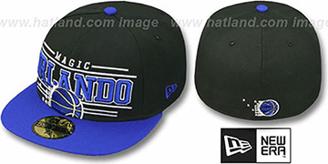 Magic 'RETRO-SMOOTH' Black-Royal Fitted Hat by New Era