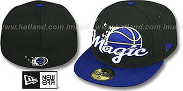 Magic 'SCRIPT-PUNCH' Black-Royal Fitted Hat by New Era