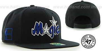 Magic 'SURE-SHOT SNAPBACK' Black Hat by Twins 47 Brand