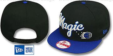 wholesale dealer dcbc6 83b15 Magic SWASH-SCRIPT SNAPBACK Black-Royal Hat by New Era