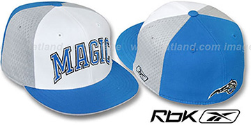 Magic 'SWINGMAN' White-Grey-Blue Fitted Hat by Reebok