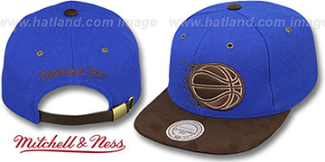 Magic 'TC-BROWN SUEDE STRAPBACK' Hat Mitchell & Ness
