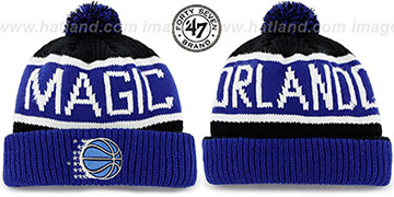 Magic THE-CALGARY Blue-Black Knit Beanie Hat by Twins 47 Brand