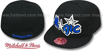 Magic XL-LOGO BASIC Black Fitted Hat by Mitchell & Ness