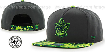 Maple Leafs 'DRYTOP STRAPBACK' Grey Hat by Twins 47 Brand