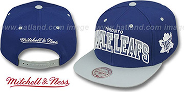 Maple Leafs 'GRADIANT-ARCH SNAPBACK' Navy-Grey Hat by Mitchell & Ness