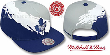 Maple Leafs PAINTBRUSH SNAPBACK Grey-White-Navy Hat by Mitchell & Ness