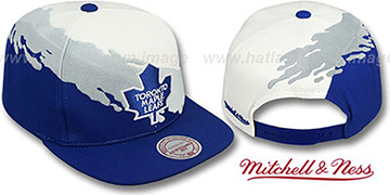 Maple Leafs PAINTBRUSH SNAPBACK White-Grey-Royal Hat by Mitchell & Ness