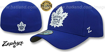 Maple Leafs 'SHOOTOUT' Royal Fitted Hat by Zephyr
