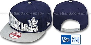Maple Leafs STOKED SNAPBACK Navy-Grey Hat by New Era