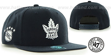 Maple Leafs 'SURE-SHOT SNAPBACK' Navy Hat by Twins 47 Brand