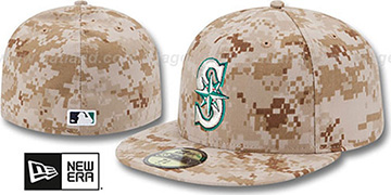 Mariners 2013 'STARS N STRIPES' Desert Camo Hat by New Era