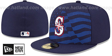 Mariners 2015 JULY 4TH STARS N STRIPES Hat by New Era