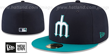 Mariners 2018 PROLIGHT-BP Navy-Teal Fitted Hat by New Era