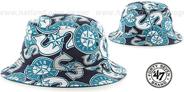 Mariners 'BRAVADO BUCKET' Hat by Twins 47 Brand
