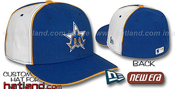 Mariners COOPERSTOWN PINWHEEL-2 Royal-White Fitted Hat