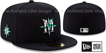 Mariners DASHMARK BP Navy Fitted Hat by New Era