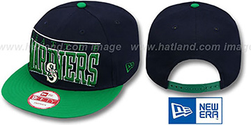 Mariners LE-ARCH SNAPBACK Navy-Green Hat by New Era