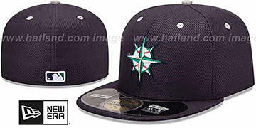Mariners 'MLB DIAMOND ERA' 59FIFTY Navy BP Hat by New Era