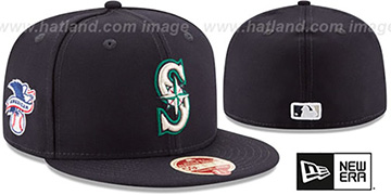 Mariners MLB WOOL-STANDARD Navy Fitted Hat by New Era