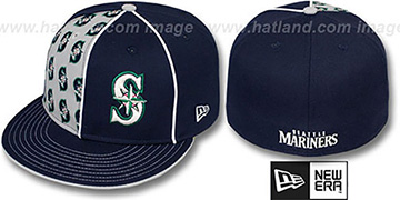 Mariners 'MULTIPLY' Navy-Grey Fitted Hat by New Era