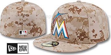 Marlins 2013 'STARS N STRIPES' Desert Camo Hat by New Era