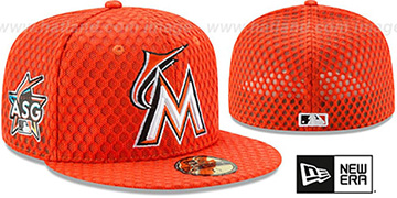 Marlins '2017 MLB HOME RUN DERBY' Orange Fitted Hat by New Era