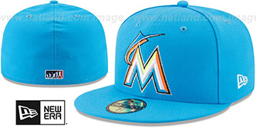 Marlins 2017 MLB LITTLE-LEAGUE Blue Fitted Hat by New Era