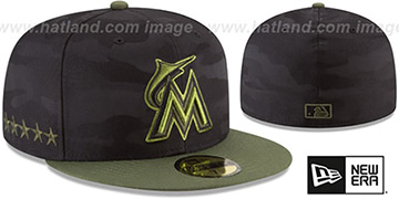 Marlins 2018 MEMORIAL DAY 'STARS N STRIPES' Hat by New Era