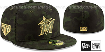 Marlins 2019 ARMED FORCES 'STARS N STRIPES' Hat by New Era