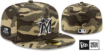 Marlins 2021 ARMED FORCES STARS N STRIPES Hat by New Era