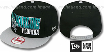 Marlins '2T BORDERLINE SNAPBACK' Black-Grey Hat by New Era
