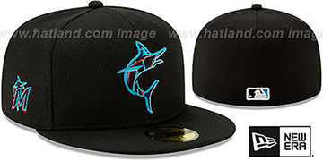 Marlins DASHMARK BP Black Fitted Hat by New Era