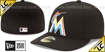 Marlins 'LOW-CROWN' HOME Fitted Hat by New Era