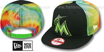 Marlins 'MESH TYE-DYE SNAPBACK' Hat by New Era