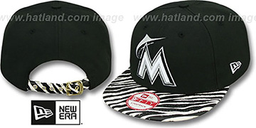 Marlins OSTRICH-ZEBRA STRAPBACK Hat by New Era