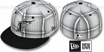 Marlins 'PLAIDIE' Black Fitted Hat by New Era