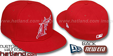 Marlins Red-White '59FIFTY' Fitted Hat by New Era