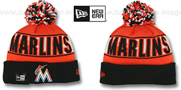 Marlins 'REP-UR-TEAM' Knit Beanie Hat by New Era