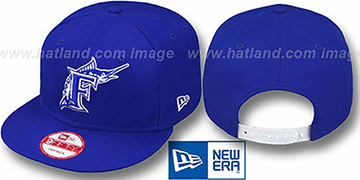 Marlins 'TEAM-BASIC SNAPBACK' Royal-White Hat by New Era