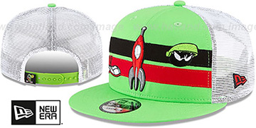 Marvin the Martian ELEMENTS TRUCKER SNAPBACK Adjustable Hat by New Era