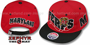 Maryland '2T FLASHBACK SNAPBACK' Red-Black Hat by Zephyr
