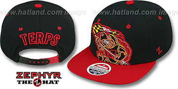 Maryland '2T TERP FLAG SNAPBACK' Black-Red Hat by Zephyr