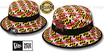 Maryland ALL-OVER MARYLAND FLAG BUCKET Hat by New Era