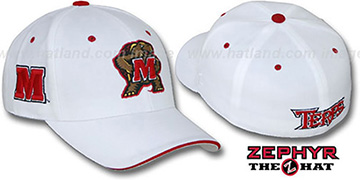 Maryland DHS TRIPLE-WHITE 2 Fitted Hat by Zephyr