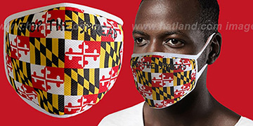 MARYLAND FLAG Washable Fashion Mask by Hatland.com