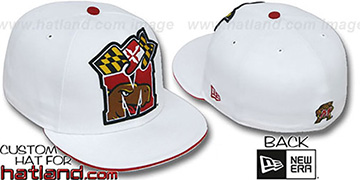 Maryland 'INSIDER BIG-ONE' White Fitted Hat by New Era