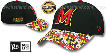 Maryland MARYLAND FLAG FLEX Black-Flag Hat by New Era