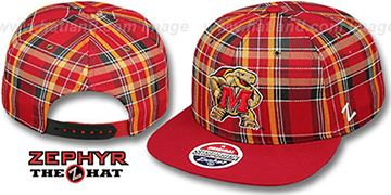 Maryland MASCOT GAELIC PLAID SNAPBACK Red-Red Hat by Zephyr